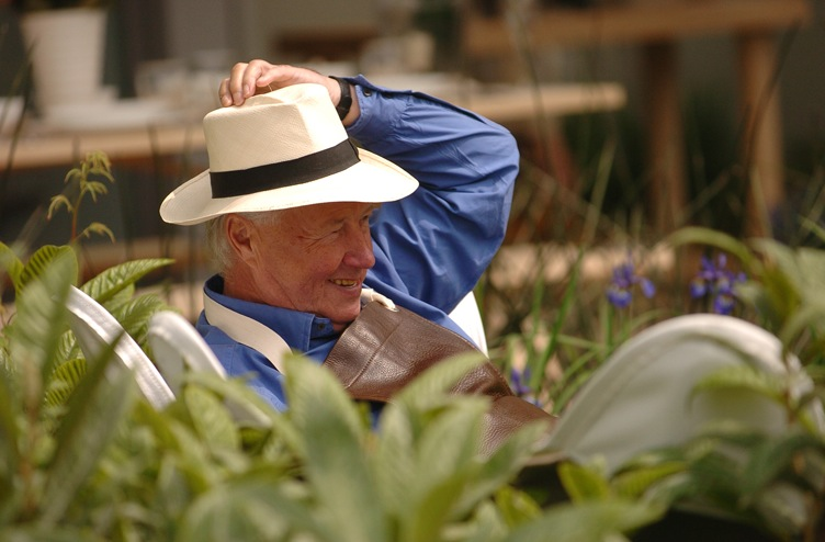 Terence Conran at the Chelsea Flower Show, 2004.