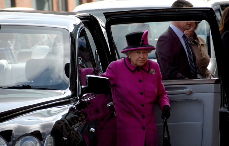 Queen visit to De Montfort University.