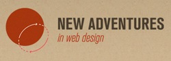 Logo for New Adventures in Web Design, Nottingham, 2011.