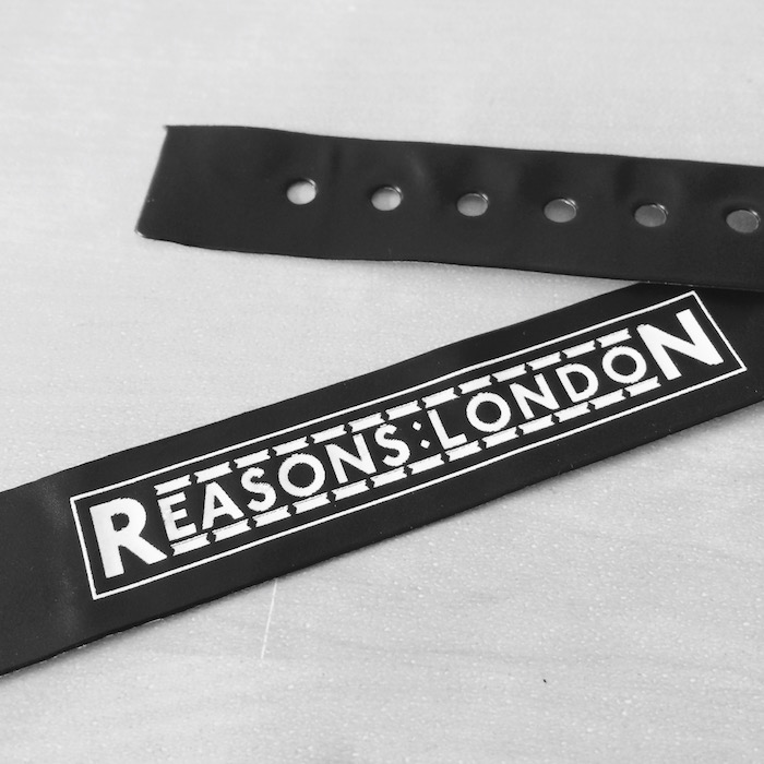 Lanyard from the Reasons To conference in London.