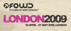 Logo for The Future of Web Design, London, 2009.