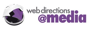 Logo for Web Directions @media, London, 2010.