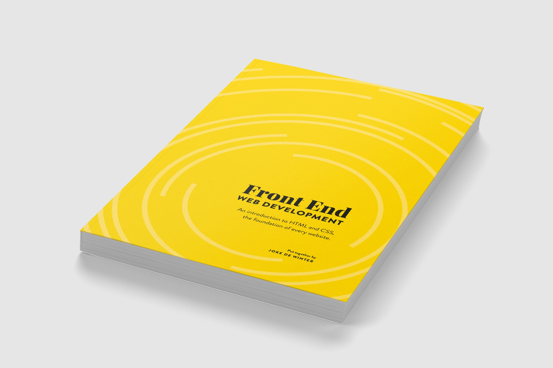 Book cover design for Front End Web Development.